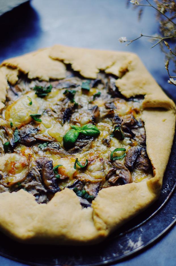 recette tarte rustique aux champignons