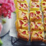 recette gateau amandes et fraises