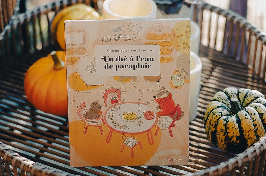 livres enfant automne - un thé à l'eau de parapluie